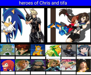 Heroes of Chris and Tifa by Anime--Bunny