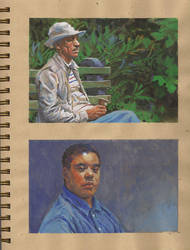 Small Gouache sketches by grobles63
