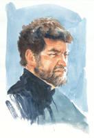 Watercolor Male Portrait by grobles63
