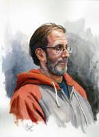 Paul Watercolor-portrait by grobles63