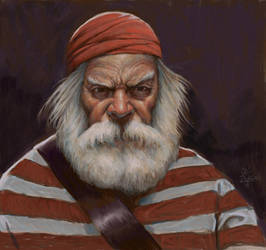 Self Portrait As An Old Pirate by grobles63