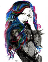 girl by MM-ARTDrawing