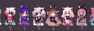*lowered price* Set Price Adopts | OPEN (1/8) by khatto-adopts