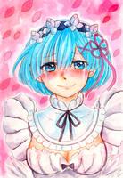 Re:zero Smile for me Rem by SweetJiJiSama