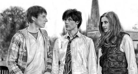 The Doctor, Amy, Rory by AmandaTolleson
