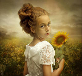 Sunflower Girl by MeeranUhm