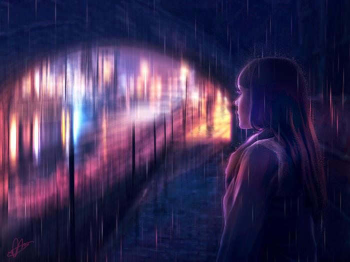 Waiting In The Rain by MeeranUhm