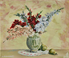 Gladiolus with Pears by AnnaZLove
