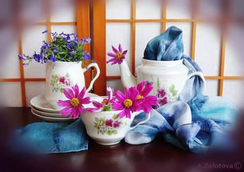 Summer tea set 3 by AnnaZLove