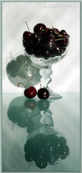 Sweet cherry in a Crystal glass 1 by AnnaZLove