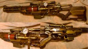 Steampunk Sniper Rifle (Nerf Longstrike) by relasine