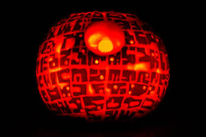 Death Star Pumpkin by dodgeimagery