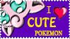 I Love Cute Pokemon Stamp by Toonfreak