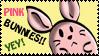 Pink Bunnies YEY Stamp by Toonfreak