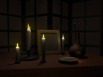 Candle scene by 7oneders