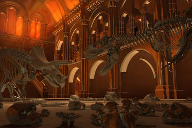 Epic dinosaur battle by 7oneders