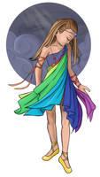 Original- Rainbow Girl by griffinKitty