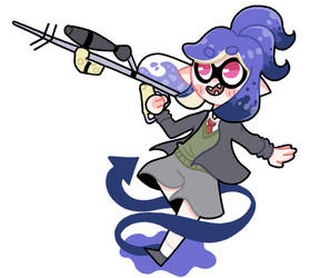 Sniper squid [commission] by DuckDrew