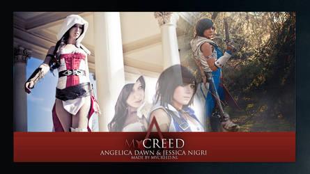 Angelica Dawn en Jessica Nigri by MyCreedCosplay
