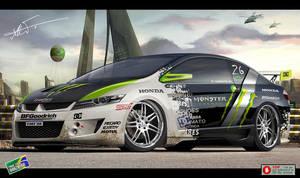 Honda City Monster Energy by kairusevon