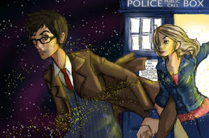 Doctor and his companion by CannotBeUnseen
