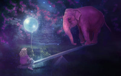 Pink Elephant by MariLucia