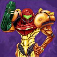 Samus Aran-Metroid Pime by lloydy
