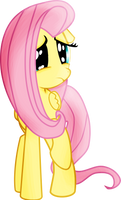 Mlp Fluttershy Scared Vector by pintara