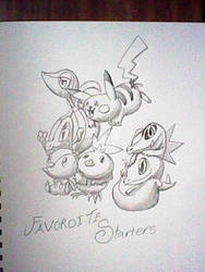 my favorite starters woot woot by Dragontamer333