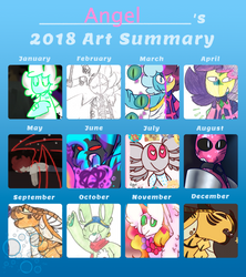 Year of Art / Art Summary 2018 by FearlessMist