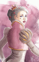 Heart Queen, Watcolour Practice by amari