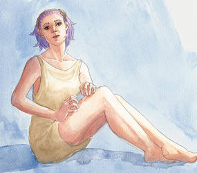 Marci Watercolour Test by amari
