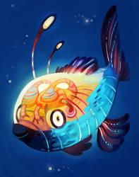 Fish Brain by AmandaMullins