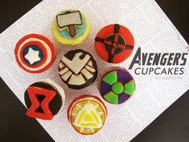 The Avengers Cupcakes by StrawberryStory