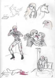 Some Dawn sketches by Dragunalb