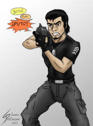 Salvador being badass by Dragunalb