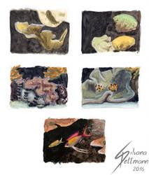 Zooskizzen 9 Riff (reef) by Dragunalb