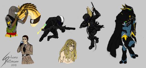 Halo sketches 1 by Dragunalb
