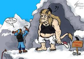 Pretty dang cute mountain troll by Dragunalb
