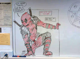 Deadpool - Whiteboard Doodle by ABD-illustrates