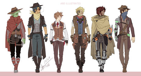 West - Character Lineup by ABD-illustrates