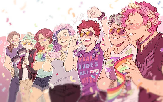 PRIDE 2017 - ABD-illustrates and friends! by ABD-illustrates