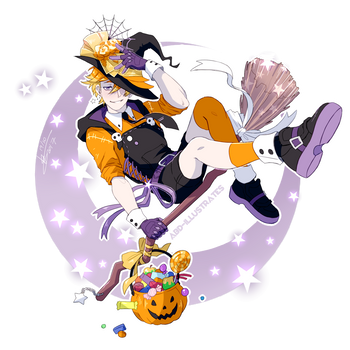 Trick or Treat - Halloween Sticker [SPEEDPAINT] by ABD-illustrates