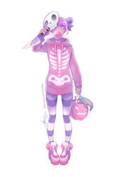 Skelegirl [SPEEDPAINT] by ABD-illustrates