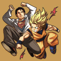 Superman VS Goku by cuhan