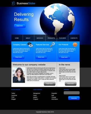 Dark blue web template by Player-Designer
