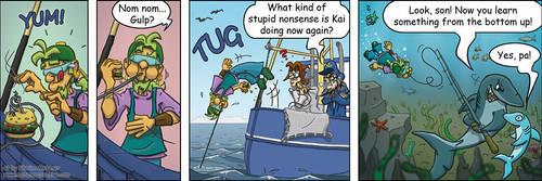 Krabbenjunx comicstrip: Bait by metznercreative