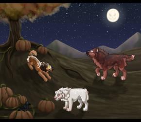 Midnight Pumpkin Patch Adventures by Mangoswirls