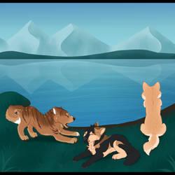 [Adventure] Lake Side Snoozing by Mangoswirls