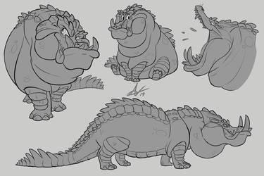 Crocopotamus Studies by Atropicus